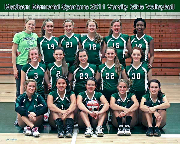 Madison Memorial Spartans 2011 Girls Volleyball Team