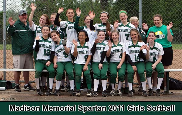 Madison Memorial Spartans 2011 Girls Softball